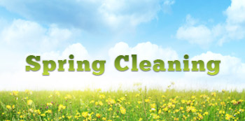 Spring Cleaning picture of blue sky and green meadow