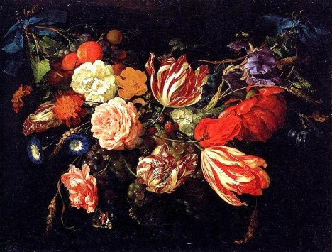 JAN DAVIDSZ DE HEEM Festoon with Flowers and Fruits 1670