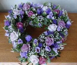 heart rose - purple