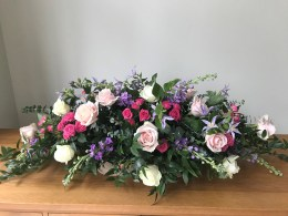 pink 4ft funeral spray