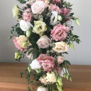 pastel shower wedding bouquet