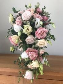 pastel shower wedding bouquet