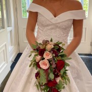 Burgundy and Blush Shower Bouquet (2)