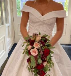Burgundy and Blush Shower Bouquet (2)