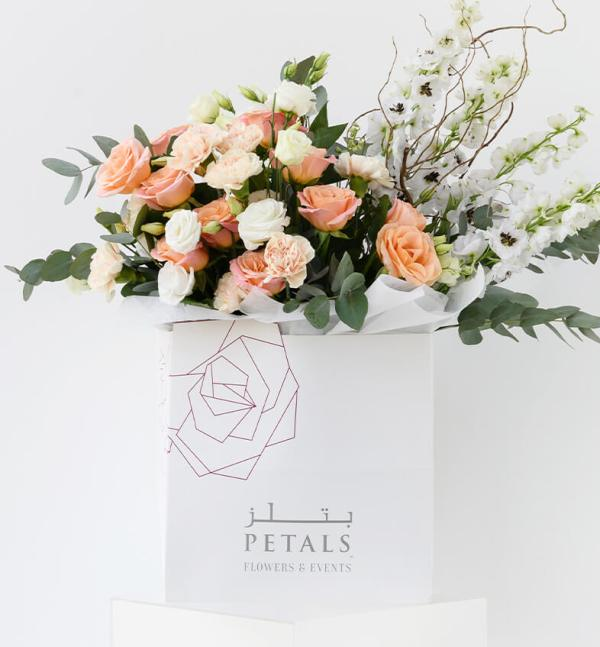 Petals Signature Floral Design Paired with Touches of White and Greens