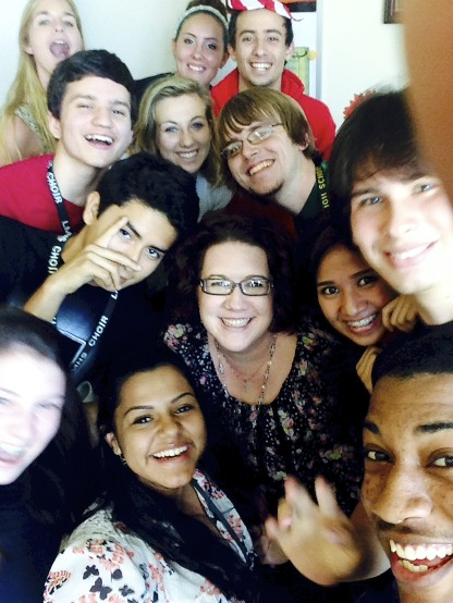 Last day of school with one of my classes and the students suddenly crowded around my desk for a selfie...I couldn't say no.