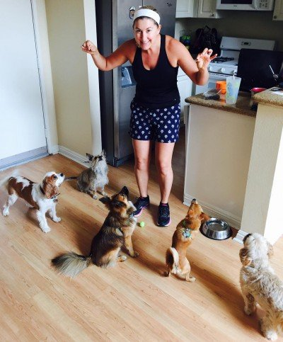 Tiff in Home With Dogs