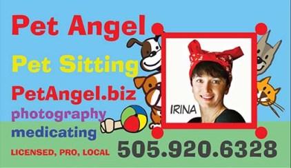 Business card Pet Angel