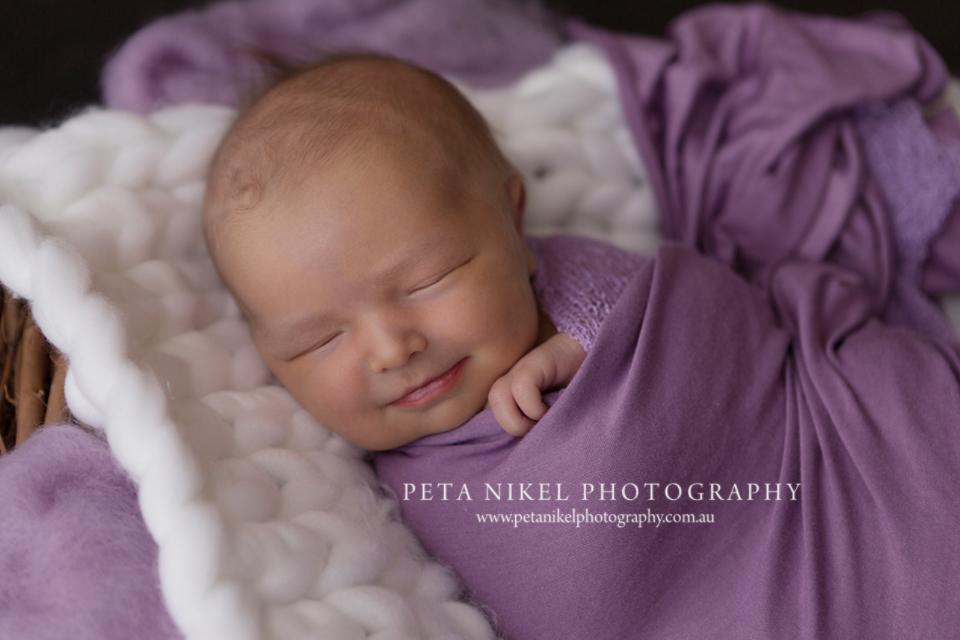 sweet newborn smile