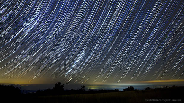 Beautiful Timelapse Of Long Exposure Star Trails