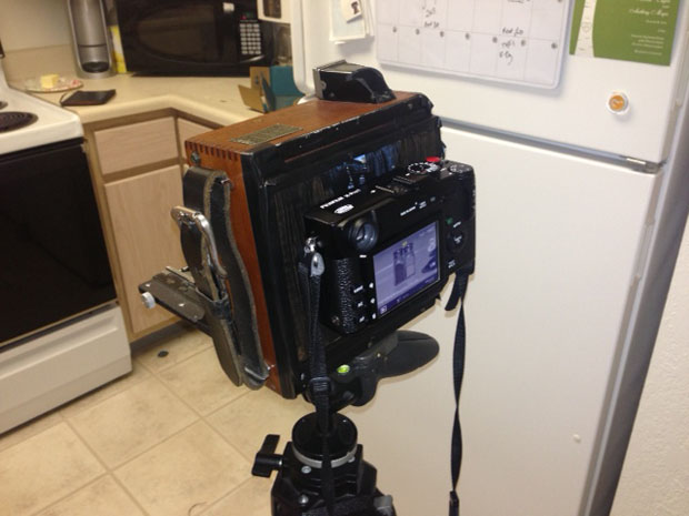 Speed Graphic 4x5 Converted Into a Fuji X Mirrorless Camera