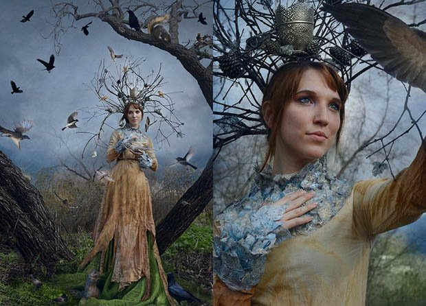 Creating A Dryad Costume For A Fantasy Photo Shoot On A