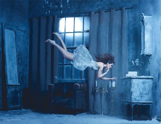 Surreal Photos of Women Floating in Zero Gravity by Nikolay Tikhomirov zero gravity nikolay 6