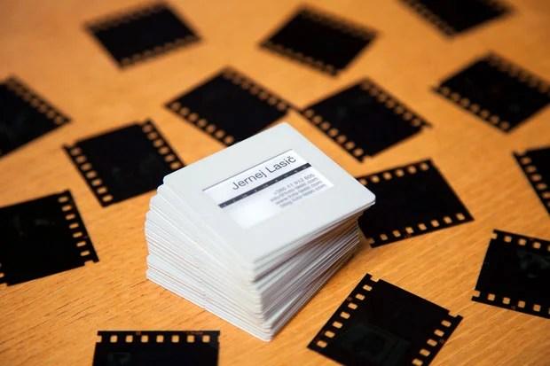 DIY 35mm Film Slide Business Cards