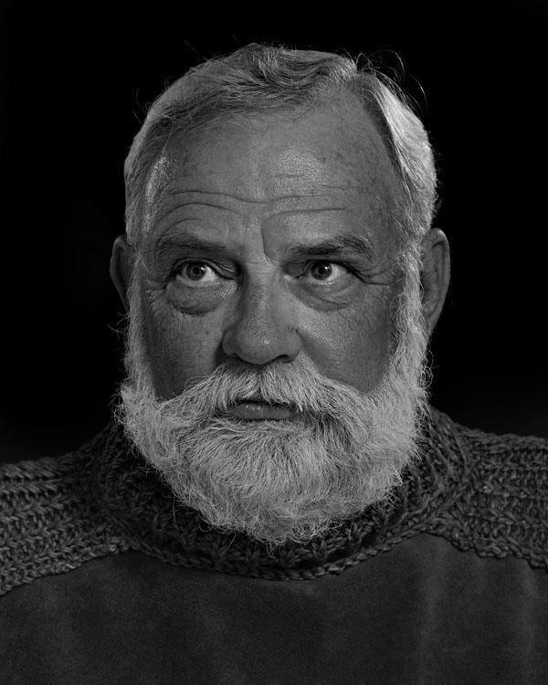 Portraits of the Bearded Men in an Ernest Hemingway Look Alike Contest TOM VANEK 1627 1
