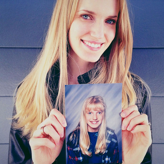 Portraits of People Holding Their School Pictures from Awkward Years awkwardyears 1