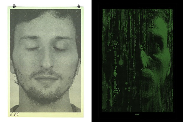 These Binary Prints by Alex Trochut Show Different Portraits in Light and Darkness binary5