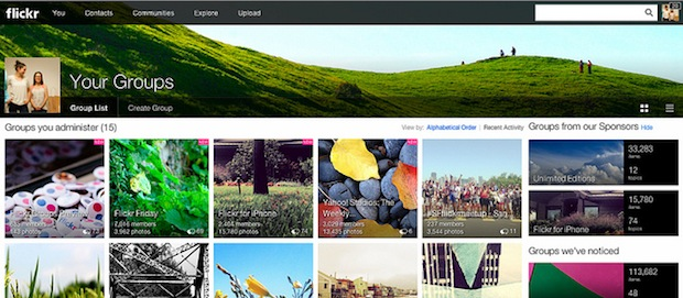 Flickr Redesigns Groups Pages to Match the Sites New Look groups2