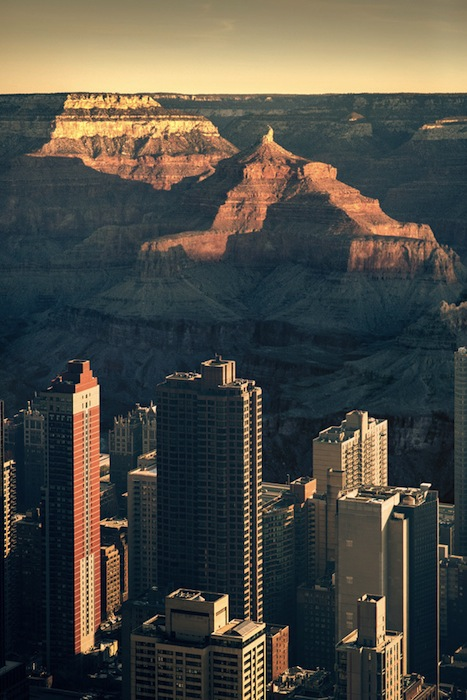 Photos of New York City Inside the Grand Canyon Contrast Emptiness and Density merge5