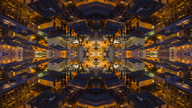 Mind Bending Time Lapse of Cityscapes Mirrored Into Kaleidoscopic Patterns mirrorcity2