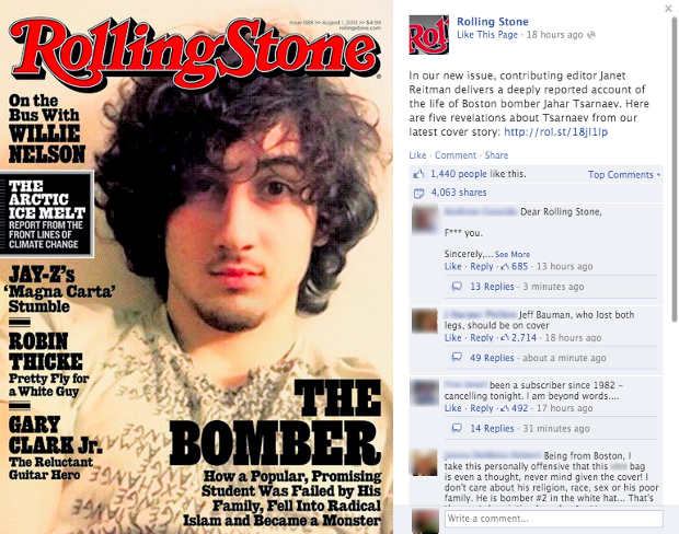 Rolling Stone Runs with Boston Bombing Suspect Cover, Sparks Outrage rollingstoneboston2