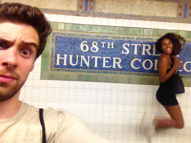 Couple Captures Selfies at Each of the 118 Subway Stations in Manhattan subwaystops 4