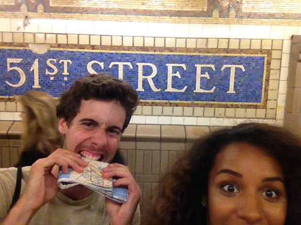 Couple Captures Selfies at Each of the 118 Subway Stations in Manhattan subwaystops 5