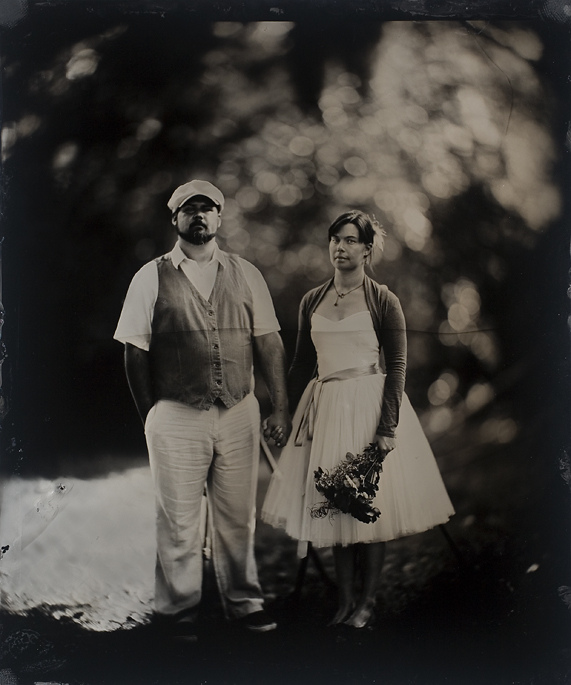 Wedding Tintype Portraits with a Massive 20x24 1800s Camera