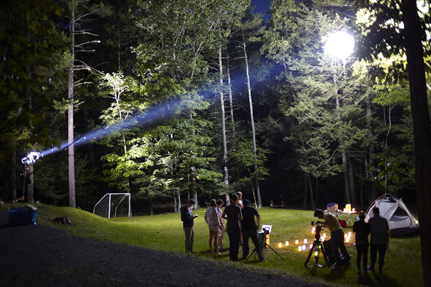 Using A Giant Weather Balloon To Create Artificial Moonlight