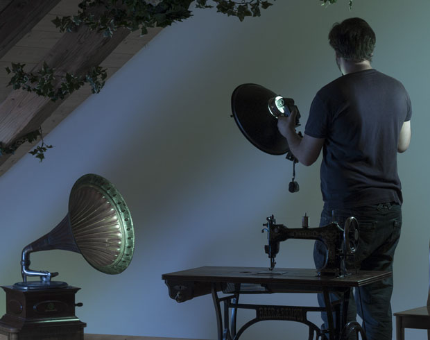Tutorial: Creating a Surreal, Conceptual Photo Using Zone Lighting 4 zone lighting the gramophone
