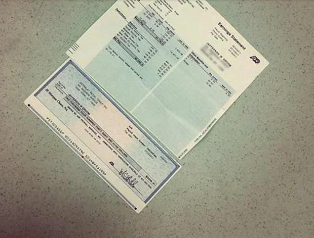 Sales Clerk Fired For Sharing A Picture Of His Paycheck On