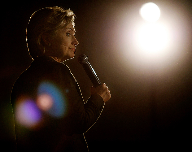 Interview with Andrew Nelles, Former Chicago Sun Times Photographer Sen. Hillary Clinton D N.Y. speaks at the Mississippi Valley Fairgrounds while campaigning in Davenport Iowa on Wednesday January 2 2008. Sen. Clinton urged voters in the crowd to support her in