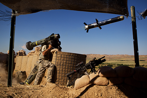 Interview with Andrew Nelles, Former Chicago Sun Times Photographer Sgt. Christopher Bunnell of 3rd platoon Alpha Troop 4th Squadron 73rd Cavalry Regiment 4th Brigade Combat Team 82nd Airborne Division fires a Javelin missile at a structure that armed individual