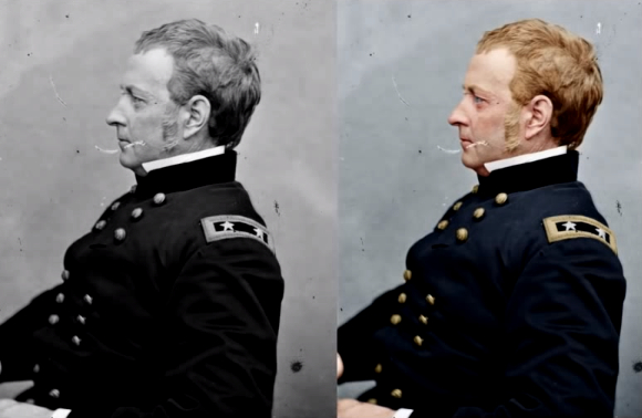 Quick Tutorial Takes You Through a Step by Step Colorization of a Civil War Photo colorizebeforeandafter1