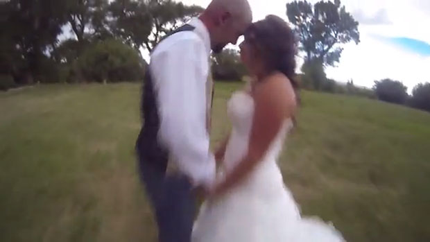 Photographer Flies His Drone Camera Into the Grooms Head During a Bridal Shoot drone