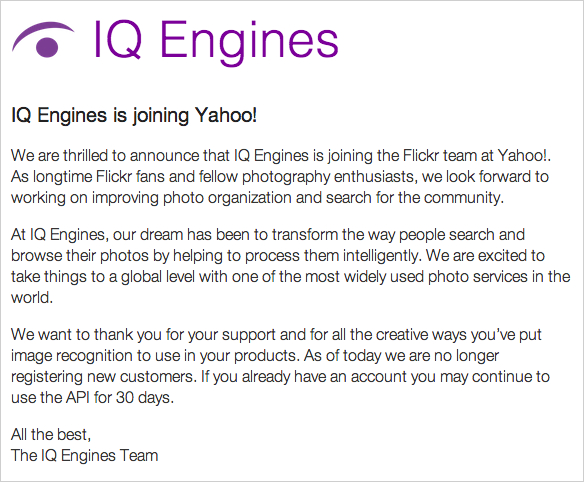 Yahoo! Snaps Up Startup IQ Engines, Will Improve Flickr Organization and Search iqengineacquisition