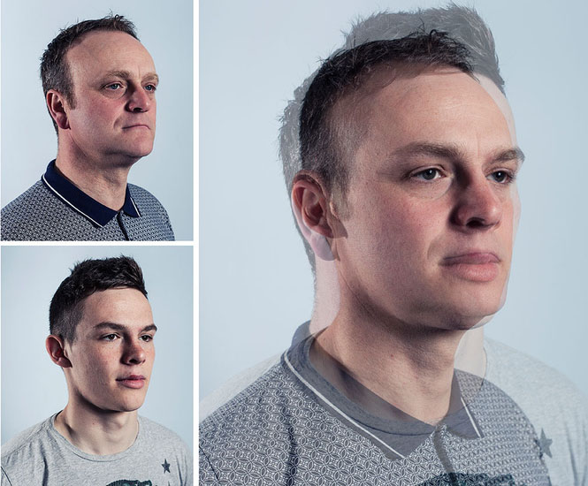 Photographer Blends Portraits of Fathers and Sons to Show Genetic Similarities jpeg 3