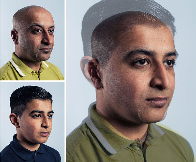 Photographer Blends Portraits of Fathers and Sons to Show Genetic Similarities jpeg 4