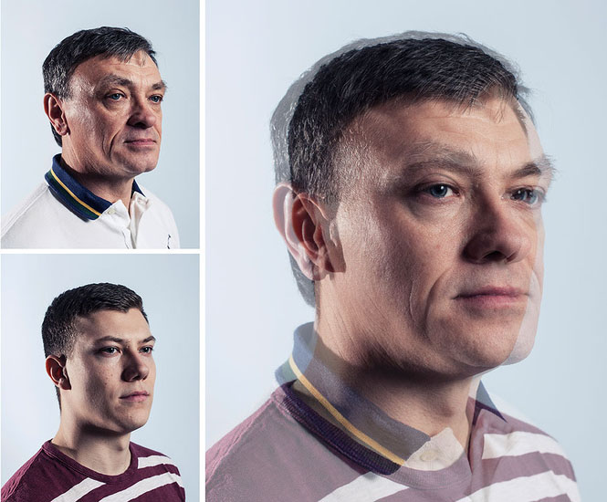 Photographer Blends Portraits of Fathers and Sons to Show Genetic Similarities jpeg 5