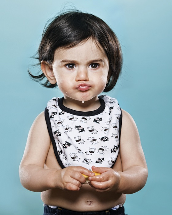 Portraits of Toddlers Reacting to Tasting a Lemon for the First Time pucker14