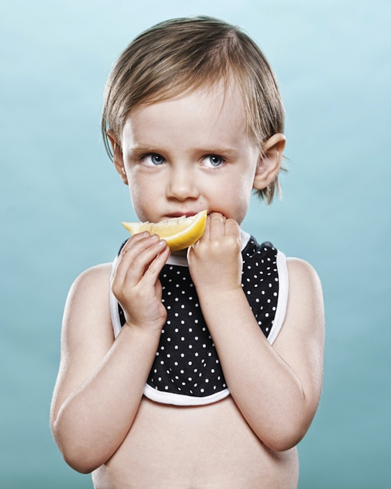 Portraits of Toddlers Reacting to Tasting a Lemon for the First Time pucker3