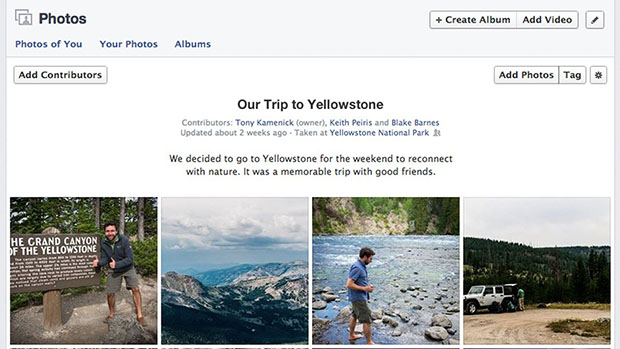 Facebook Unveils Shared Photo Albums sharedalbum