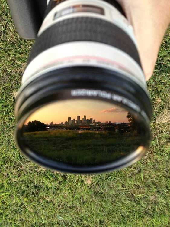 Idea: Photograph Your City Skyline in the Reflection of a Lens skyline