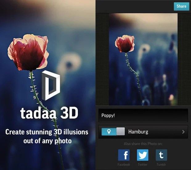 Tadaa 3D: An Instagram Style Photo App that Creates Neat 3D Illusions tadaa3d