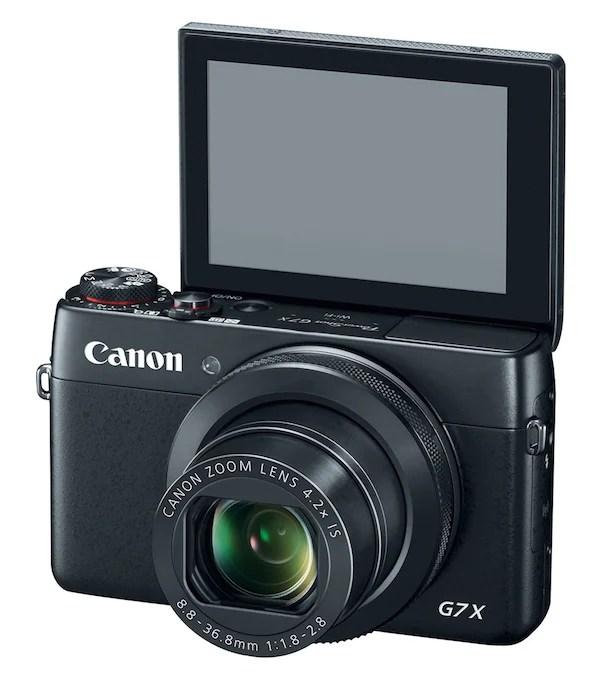 Canon har utstyrt G7 X med en tiltbar skjerm.