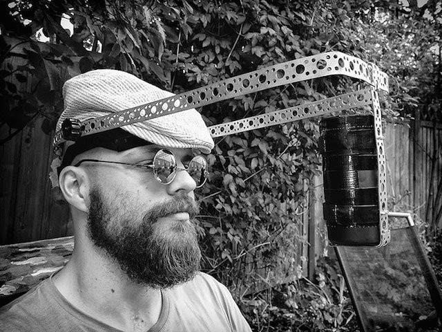 Photographer Creates Clever Pinhole Headgear To Capture