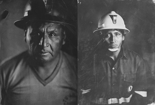 Tintype Portraits of Silver Miners Created Using Silver They Mined