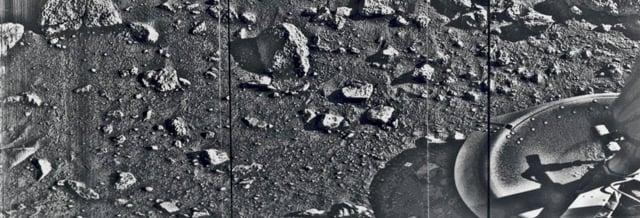 Foto dari Mars Pertama