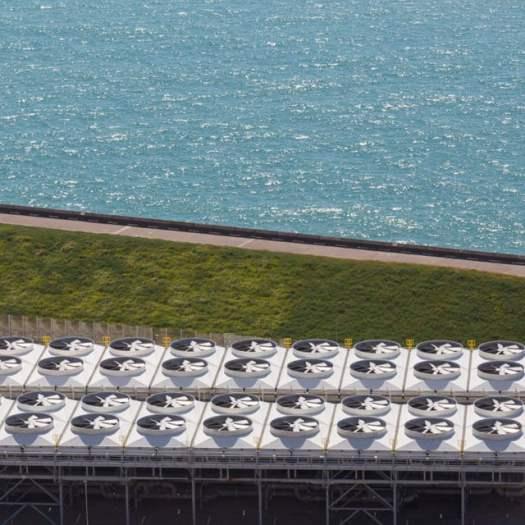 Channel Tunnel ventilation facility, Samphire Hoe, Dover.