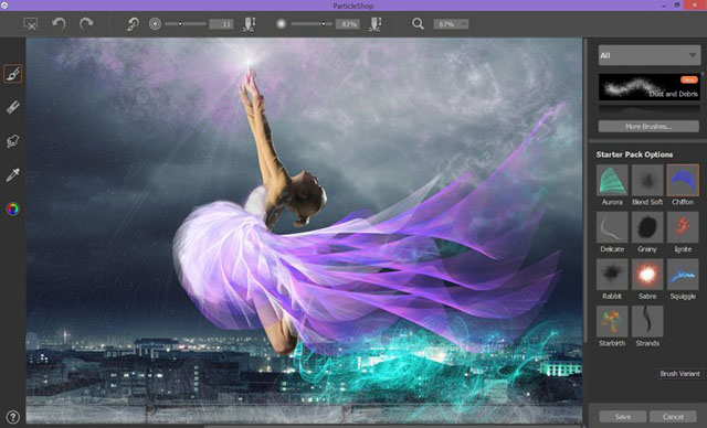 Girl Looking Into Space Wallpaper Corel Particleshop Life Like Brushes For Photoshop And
